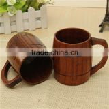 Classical Wood Work Wooden Beer Cup Mup 400ml For Gatherings Party Carnival