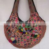 Luxury Tribal Handmade Handbags with full decoration of tribal beads, coins, pompom