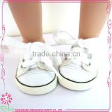 White Canvas Shoes For 18 Inch Dolls OEM Doll Shoes Wholesale