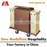 5 Star Hotel Resorts Guest Room Hotel Double Bags with Door Closed Housekeeping Service Trolley
