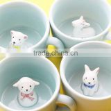 Cute Horse Sheep Dog Rabbit Ceramic Coffee Mug, 3D Animal Shape Hand Painted Cup, Creative Christmas Gift