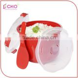 Microwave Plastic Safe Soup Mug with Handle and Vent/Noodle Bowl with Lid and Spoon/Microwave Rice Cooker