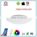 WRGB colors changing dimmer 15W 20W Zigbee Phone APP Remove Control smart led ceiling light