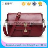 Korean Style Shoulder Bag Snap Lock PU Messenger Bag