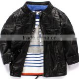 2016 children boys handsom l jacket pu leather clothes