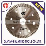 Wet/dry cutting diamond saw blade for porcerlain and ceramic tile , superthin turbo thin
