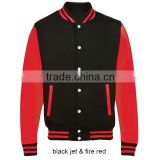 custom american black baseball jacket red