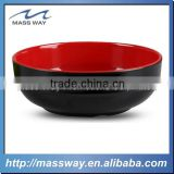 cartoon red and black color Plastic cutlery set rice Melamine soup bowl