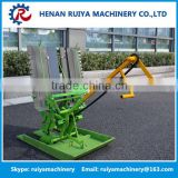 2 rows hand crank rice transplanter machine for sale