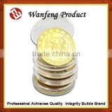 high quality collection gold plated tungsten coin producer