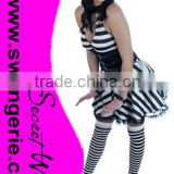 JAIL BIRD PRISONER LADIES FANCY DRESS COSTUME C674