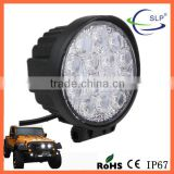 best Gold trade supplier of work light, High Power 42W round offroad LED Work Light car led work light