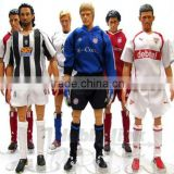 12 inches football player action figures with real clothes