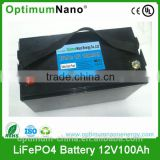 12v 100ah solar energy storage li ion battery pack with BMS