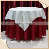 red color waterproof oilproof pvc and non-woven or flannel table cloth with square oblong oval round shape