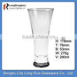 LongRun 9.5oz 2014 hot sale long and thin fancy glass flower vase for home use&glassware wholesale