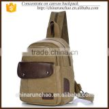 2015 china suppliers adjustable single strap shoulder bag men canvas chest bag light weight backpack