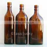 Wholesale brown empty glass bottle for wine and medicine