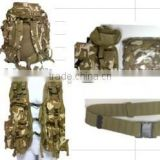 military backpack set,military camo tactical backpack with belt vest and water bottle pouch