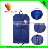 2016 Hot Sales For Promotion Imprint Customized Logo Eco Friendly Non Woven garment bag with pockets