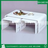 Bentwood Coffee Table, White Coffee Table, Lacquer Coffee Table