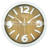 3D effection wall clock/Colorful face wall clock/simple design for wholesale