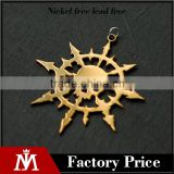Wholesale Stainless Steel Gold Plated Arrowhead Charm Jewelry Biker Skull Pendant Jewelry