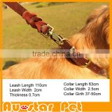 High Quality Dog Leather Collar Large Big Dogs First class Leather Leashes collier chien wholesale Pet Products Collars for Dogs