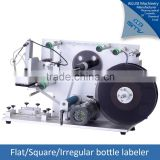 Semi automatic labeling machine flat labelling machine for bottles
