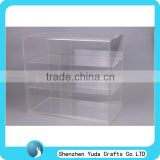 hot sale clear customized 3-tier bakery acrylic display cabinet necessary for cafe shop