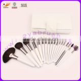 Makeup Brush Set with 18 Piece Natural and Synthetic Hair Brushes