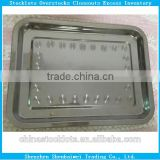 Stock clearance sale yiwu stocklots matel food serving tray liquidation leftover lots