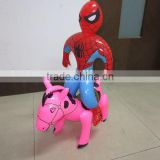 Custom logo printed New design inflatable horse toys for kids play,pink horse for girls