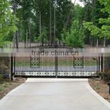 estate gate/ Garden decorative privacy cast aluminium wrought iron fence and gates in stock