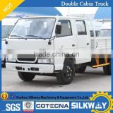 Chinese brand new double cabin dump truck 2ton capacity