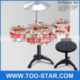 Gift Children's toys Children learn music toys drums a set of drum Children's Jazz drum kit