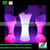 High quality 16 colors changing battery powered led plastic table