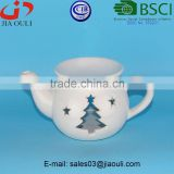 BSCI Audit Factory Modern family life fragrance lamp ceramic teapot shape oil burner, Gifts & Decor Ceramic Oil Warmer
