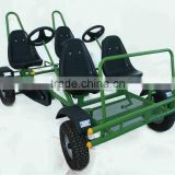 INquiry about 4 seat pedal car,4 person surrey bike,4 wheel bike for 4 person