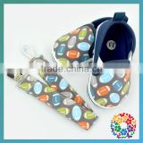Football Printed Soft Canvas Baby Shoe 0-12 Month Baby Prewalker Shoes With Matched Pacifier Clip