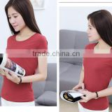 2017 inexpensive blank red black and gray t shirts faded cotton blank t-shirts women clothes