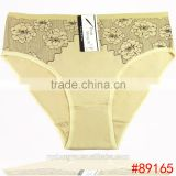almond skin daisy cotton brief panties/yje wholesale plus size sexy cotton breathable underwea panties/mulit color