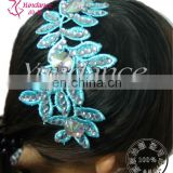H-01 applique custom-made hair accessories with rhinestones for ballroom dance dress latin dance dress