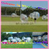 Inflatable bubble suit loopy bumper ball