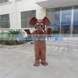 High quality soft plush Brown elephant Cartoon Costumes adults mascot costume