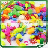 Diy Bright Reusable Beads In Assorted Shapes Sizes Colors plastic beads