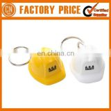 Popular Sale Promotional Bottle Cap Safety Helmet Keychain With Privated Logo Printed