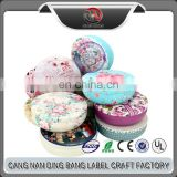 High Quality Cheap Big Size Package Box Type Custom Wedding Souvenir Round Cartoon Style Multi Metal Tin Cookies Box