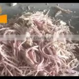 Industrial shiba scallop raw meat shredder slicer cutting machine to shred chicken beef rabbit meat