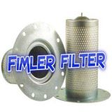 ATLAS COPCO Filters 1202641400, 1202539500, 1202641401, 1202741900, 1202872200, 1604038200, 1513005800, 1604039380